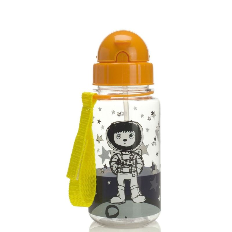 Zip & Zoe Spaceman Water Bottle with Straw