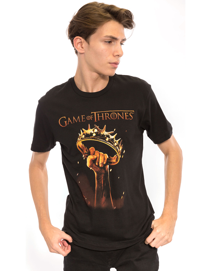 Game Of Thrones Men's Crown Black Men's T-shirt