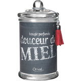 Orval Creations Scent Douceur De Miel Grey Scented Candle Small
