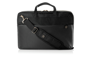 HP Duotone Briefcase Black/Gold Fits Laptop up to 15.6-Inch