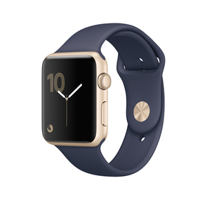 Apple Watch Series 2 42mm Sport Midnight Blue With Gold Aluminnium Case