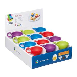 Kitchencraft Colourworks Brights Silicone Silicon Egg Cups