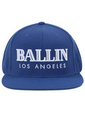 Alex & Chloe Ballin Los Angeles Blue/White Snapback Cap