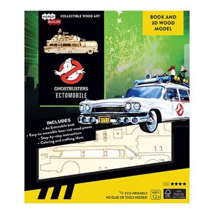 Incredibuilds Ghostbusters Ectomobile Book And 3D Wood Model
