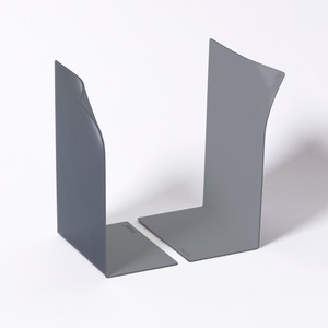 Block Page Book Ends Grey