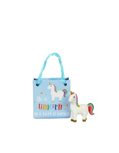 Standing Rainbow Unicorn with Bag