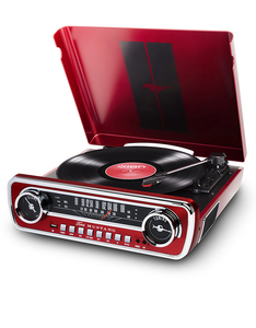 ION Mustang LP Red 4-in-1 Classic Turntable