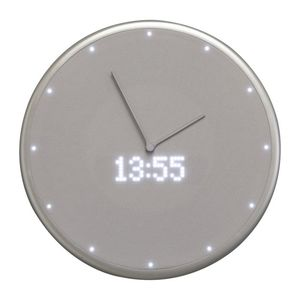 Nextime Glance Wall Clock  Silver