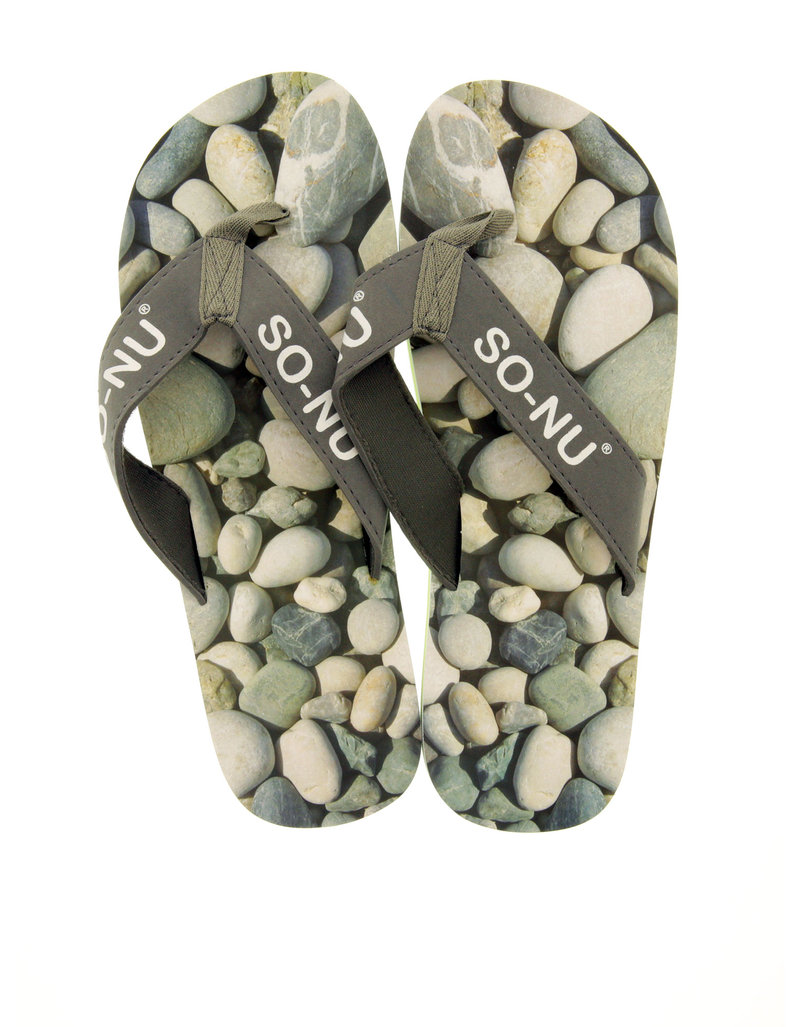 So Nu Pebbles Men'S Flip Flops L
