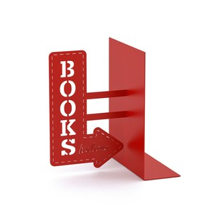 Balvi Bookend Bookshop Red Metal