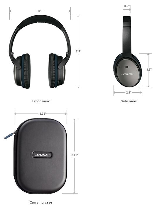 98e082aeadc Bose Quietcomfort 25 Black Headphones (iOS Devices) | On-Ear ...