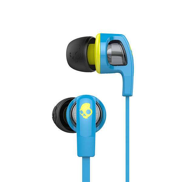 Skullcandy Smokin Bud 2 Hot Blue/Hot Lime +Mic Earphones