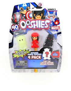 Ooshies Marvel: Series 2 Pencil Toppers [Pack of 4]