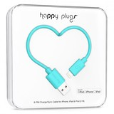 Happy Plugs Lightning To Usb Charge/Sync Turquoise Cable 2M