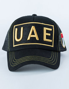 B180 Uae With Flag Black Cap