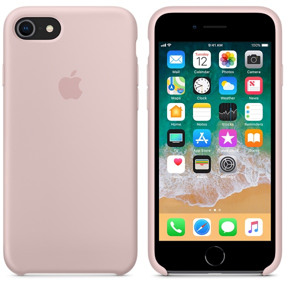 pink silicone iphone 8 case