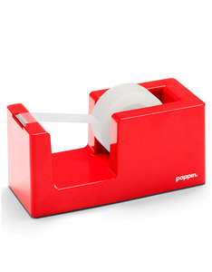 Poppin Inc Tape Dispenser & Tape Red