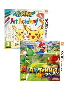 Pokemon Art Academy +Mario Tennis Open [Bundle]
