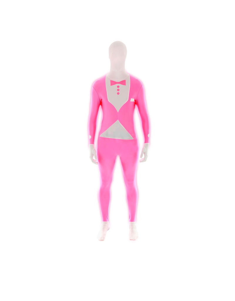 Pink Glow Tuxedo Morphsuit L