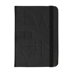 kikki.K 2020 A6 Bonded Leather Weekly Diary Jet Black