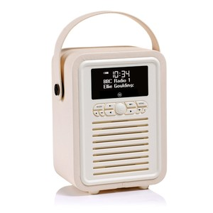 VQ Retro Mini Cream DAB Digital Radio with Bluetooth