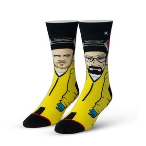 Odd Sox Breaking Bad The Cooks 360 Knit Men's Socks [Size 6-13]