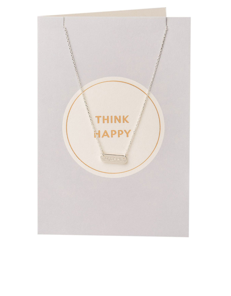 Orelia Gold Plated Think Happy Necklace Gift Card | Necklaces ...