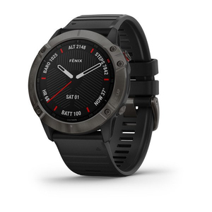 Garmin Fenix 6X Sapphire 51mm Carbon Grey DLC with Black Band Smart Watch