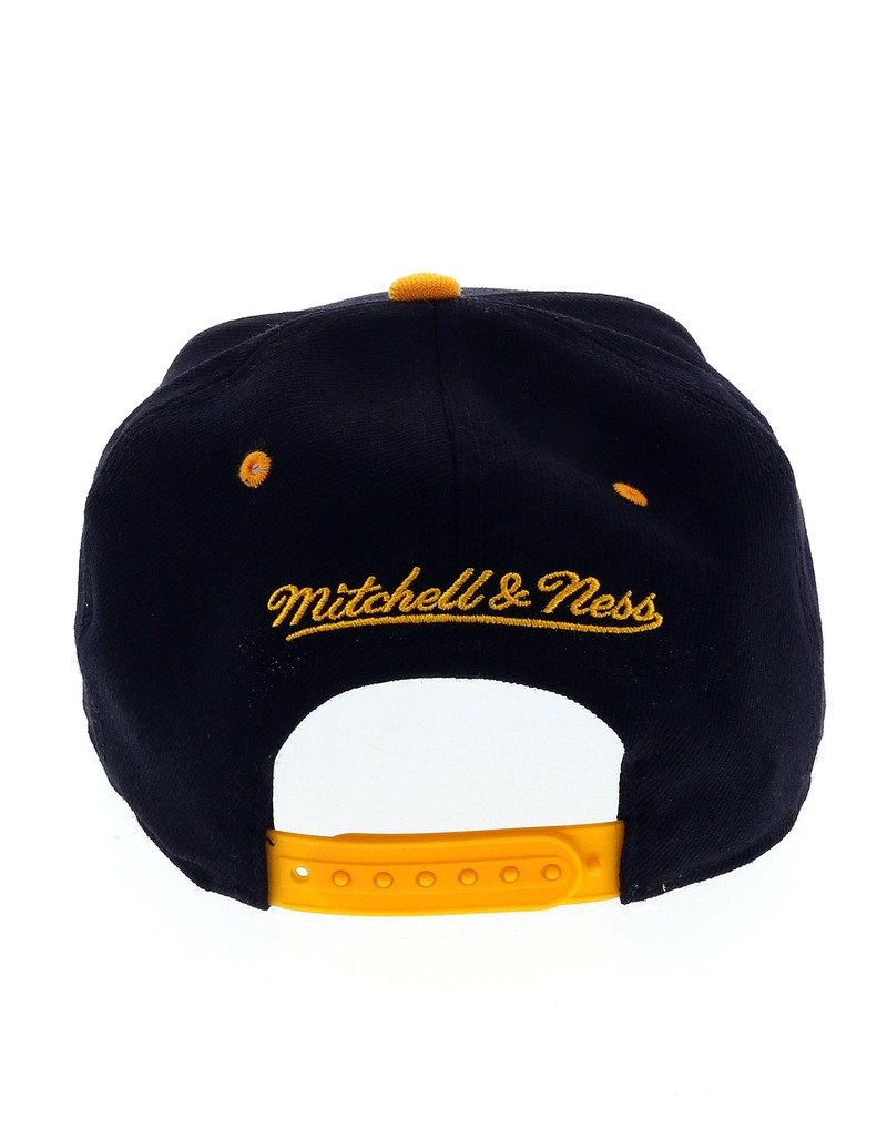 7e1a252b4d Mitchell   Ness LA Lakers Black Yellow Cap