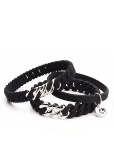 The Rubz Nano 2Pack Bracelets Black & Platin Silver