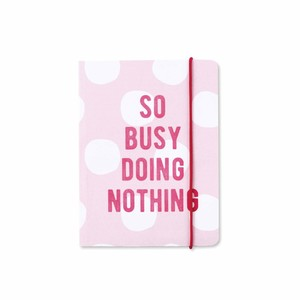Go Stationery So Busy Doing Nothing Kraft Typo A6 Notebook