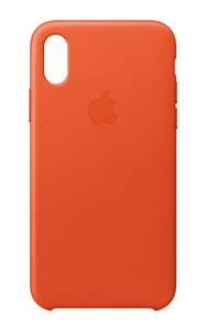APPLE LEATHER CASE BRIGHT ORANGE FOR IPHONE X