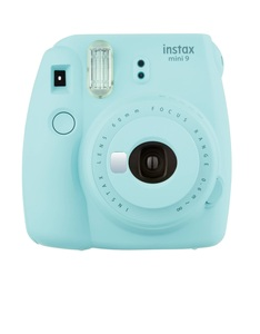 Fujifilm Instax Camera Mini9 Ice Blue +Instax Mini Film Single Pack