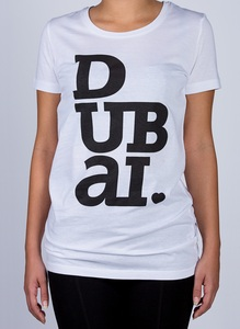 Dubailove White Round Neck Women's T-Shirt L