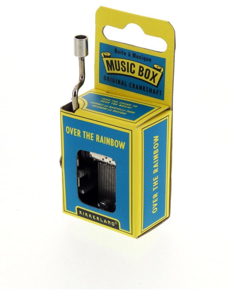 kikkerland music box over the rainbow  music  games  puzzles  - kikkerland music box over the rainbow