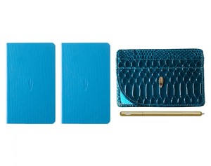 Inscribe Journals + Wallet + Pen Set Teal Gold