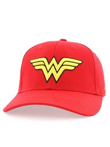 Wonder Woman Logo Baseball Cap Adult Red