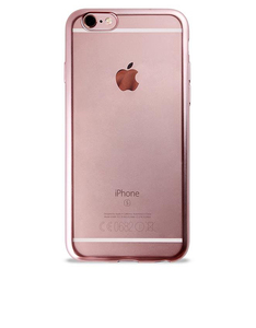 Puro Tpu Cover W/ Back Transparent & Satin Frame Rose Gold iPhone 6/6S