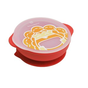 Marcus N Marcus Suction Bowl with Lid Marcus Red Baby Bowl