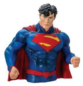 Monogram Superman Bust Coin Bank