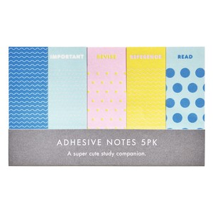Kikki.K Adhesive Notes 5Pk Smile Multi