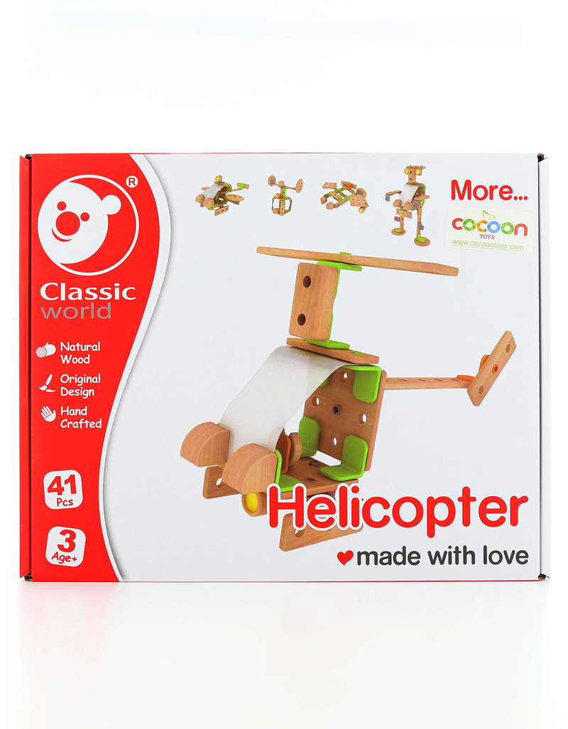 Classic World Helicopter Building Set