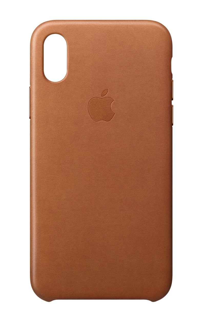 save off 1ce74 8720b Apple Leather Case Saddle Brown for iPhone X
