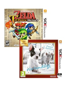 Legend of Zelda: Triforce Heroes +Nintendogs French Bulldog Selects [Bundle]