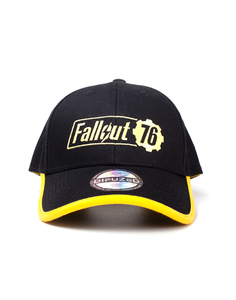 Fallout 76 Yellow Logo Adjustable Black Cap