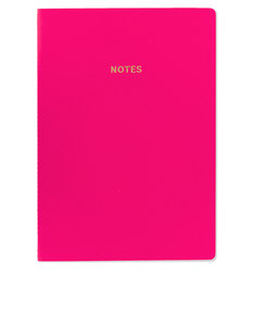 Go Stationery Colourblock Cerise Pink A4 Notebook