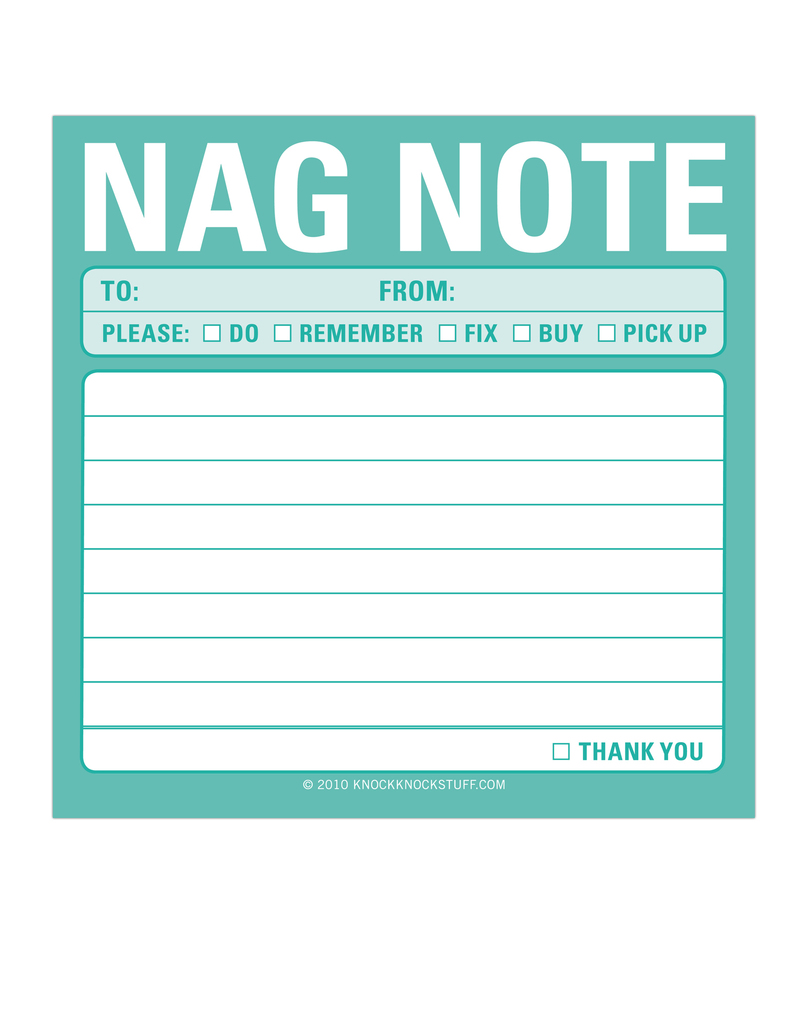 Nag Note Stick Notes
