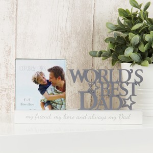 Celebrations Celebrations Photo Frame World's Best Dad 4 x 4 inch