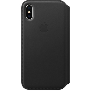 Apple Leather Folio Case Black for iPhone X