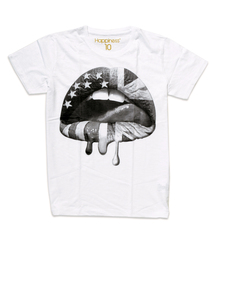 Happiness Lips White Men's T-Shirt